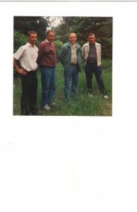 Veljekset yhdessä 70-luvulla, Mauno,Mauri,Martti ja Jussi