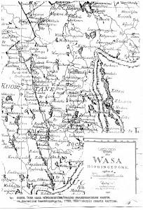 Alavuden ja ympäristön kartta 1798