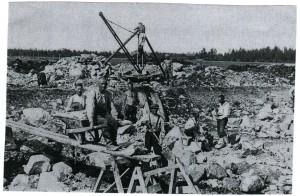 Työllisyystyöt Alavuden Ahvenjoella 30-luvulla